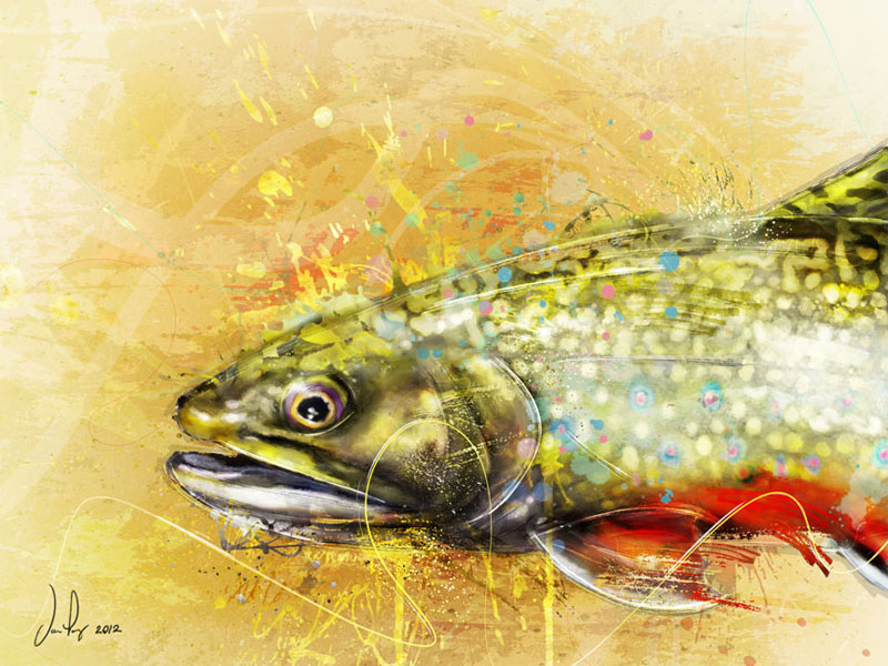 Daniel lopez fly fishing art midcurrent midcurrent for Fly fishing art