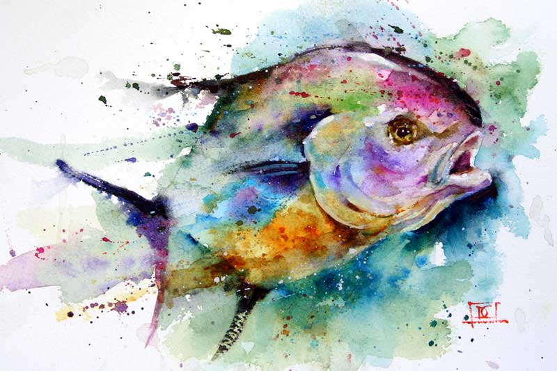 Painted Art Work Of A Fish