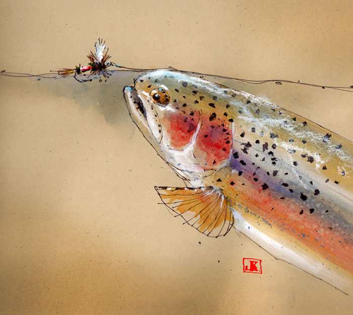Fly fishing fly drawings - photo#31