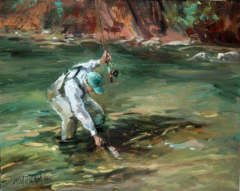 Mary maxam midcurrent for Fly fishing art