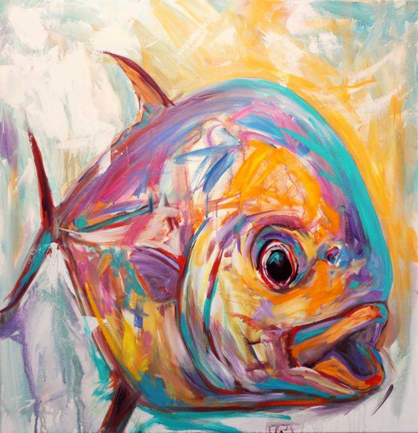Mike savlen midcurrent for Watercolor fish painting