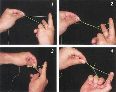 Clinch Knot for Tandem Rigs