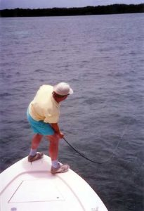 Fighting big fish on fly rods