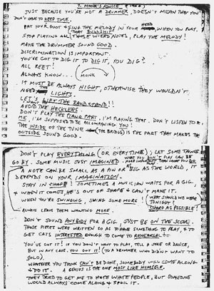Thelonius Monk Notes