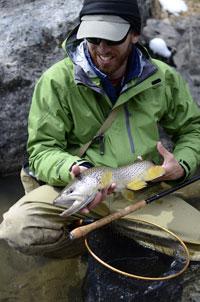 Daniel Garlhardo with Madison River brown