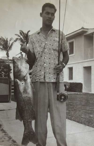 Chico Fernadez with Snook