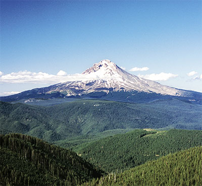 View of Mt. Hood, Oregon.