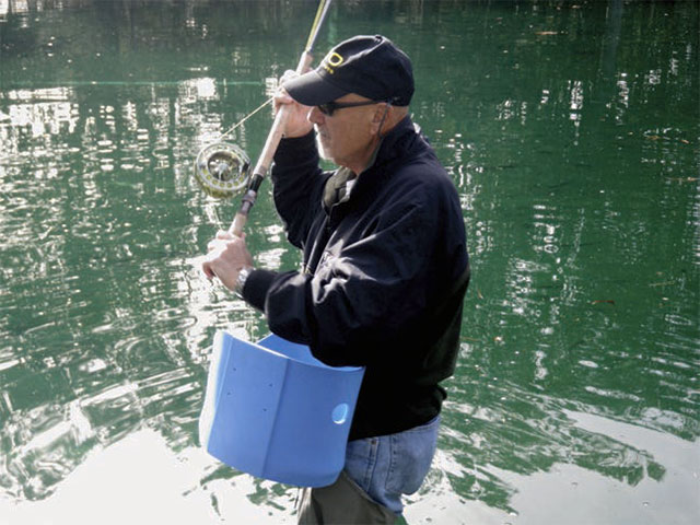 Fly Fishing Stripping Basket