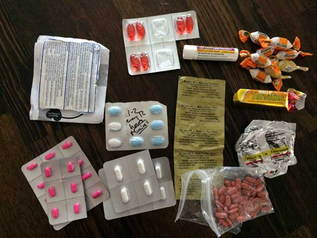 Medications for travel.