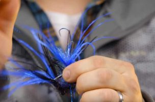 """Video Hatch: """"A fly fishing guide's go to flies for steelhead."""""""