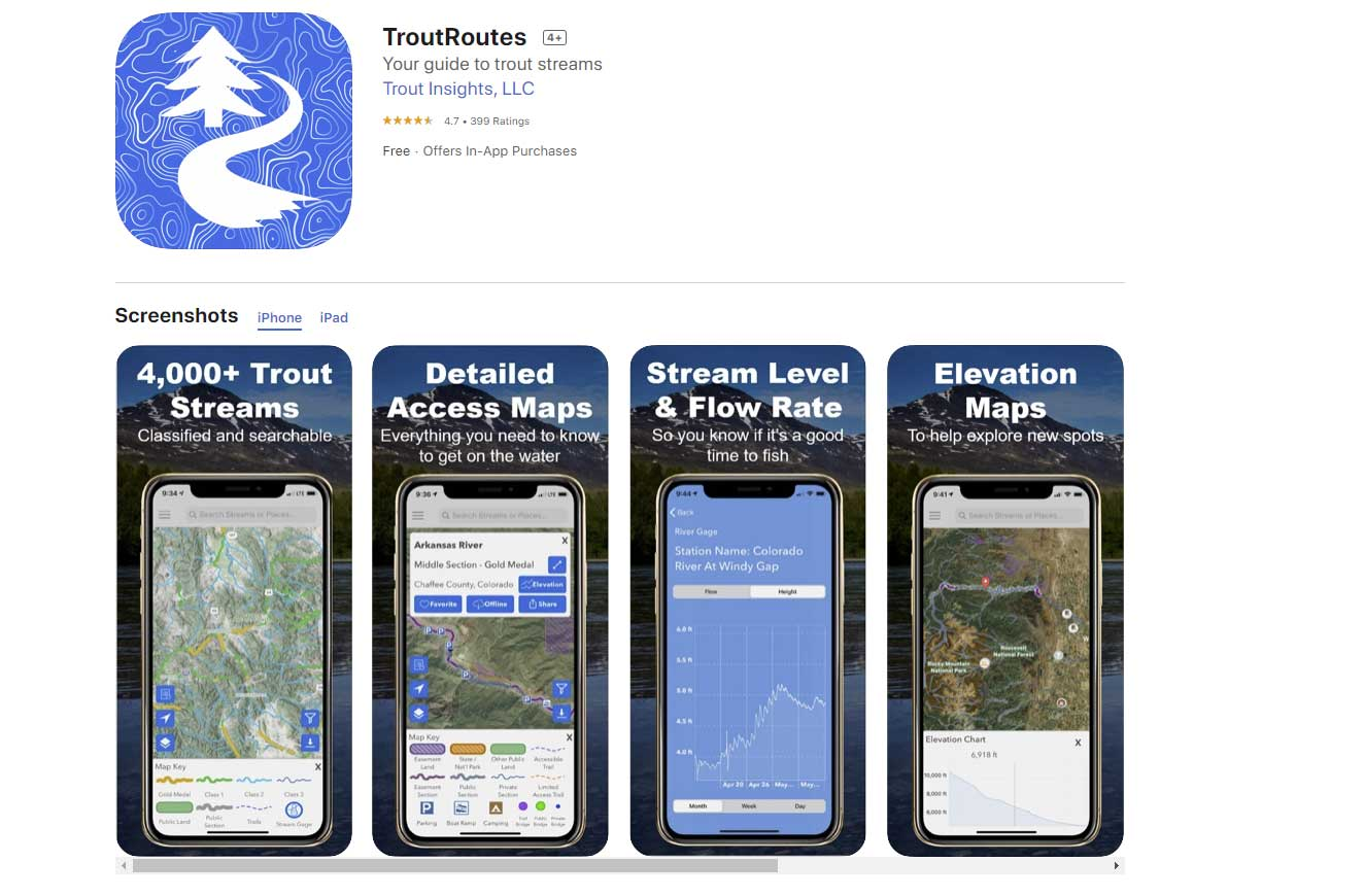 TroutRoutes Fishing Map