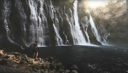 """""""Fly Fishing the 8th Wonder of the World // Burney Falls Wild Rainbow Trout"""""""