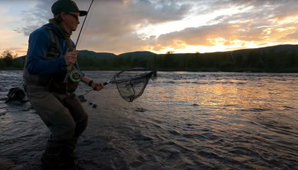 """""""Grayling & Trout in Tjuonajokk   Night Fishing During an Incredible Hatch"""" (Sweden)"""